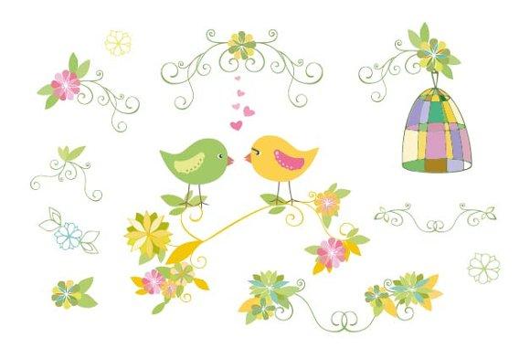 Cute Design Element With Birds