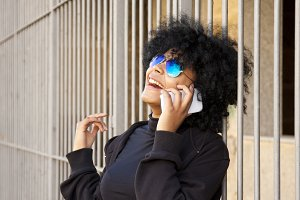 girl talking on mobile phone