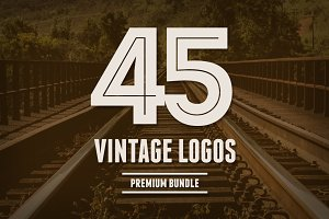 Bundle 45 Vintage Logos & Badges