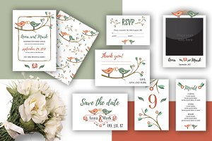 Wedding Set - love birds