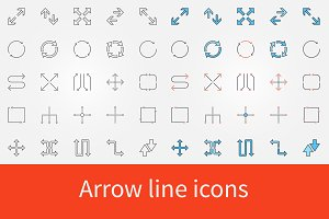 Arrow icons set