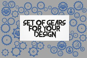 Business mechanism concept. Gears