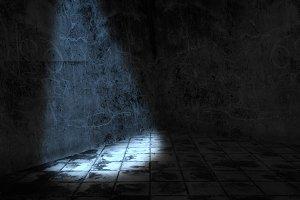 One Light in dark room