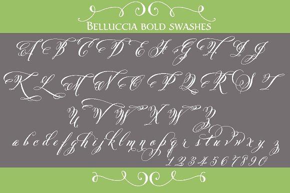 Belluccia Pro Bold Font Script Fonts Creative Market