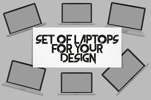 Set of Laptops