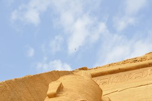 View on famous Abu Simbel in Egypt