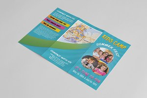 Kids Summer Camp Trifold -V492