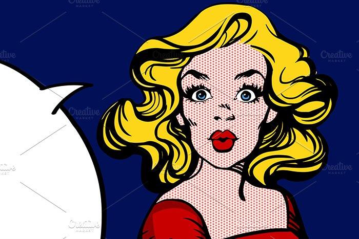 pop art woman illustrations creative market