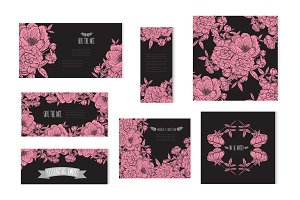 Pink Peony Floral Cards
