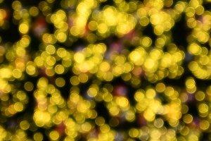 Yellow bokeh for Christmas
