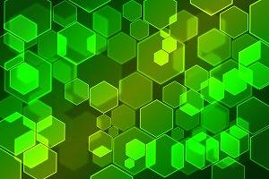 Hexagon Bubbles bokeh