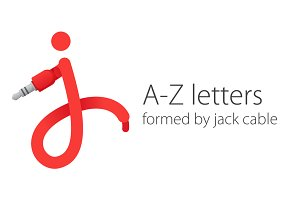 A-Z letters formed by jack cable