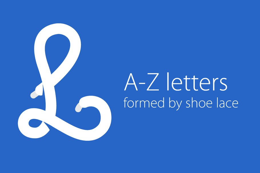 A Z Letters Formed By Shoe Lace Pre Designed Illustrator Graphics Creative Market