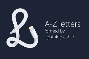 Letters  formed by  lightning cable