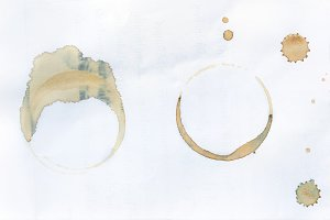 Collection stains of coffee