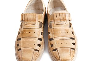 Pair of brown sandals