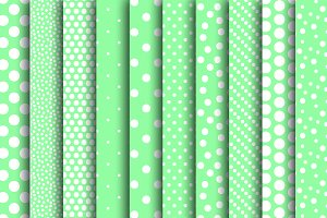 Mint Green Digital Polka Dot Papers