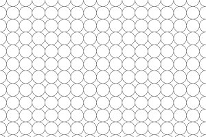 Five millimeters circles gray grid