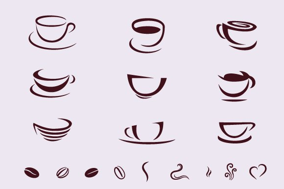 Coffee Cups For Logos ~ Photoshop Shapes for Graphic ...
