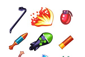 Weapon and Bomb Icons