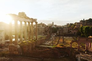 Roman Forum during sunrise