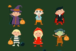 Kids in Halloween Costumes