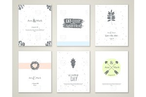 Pastel Wedding Cards