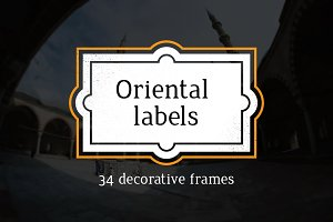 Vector oriental labels
