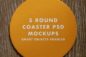 Round Coaster Mockup Pack