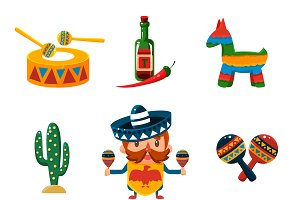 Traditional Mexical Objects
