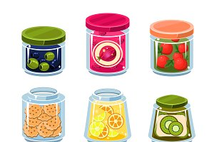 Canned Fruit and Vegetables in Cans