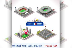 Game Set EURO 2016 France Stadium