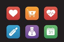 Medical icons. Vector