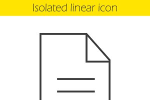New document icon. Vector