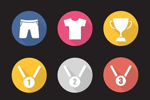Sport equipment icons. Vector