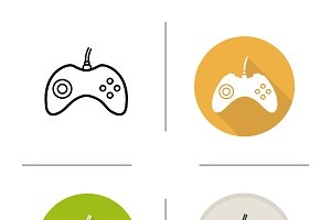 Gamepad icons. Vector