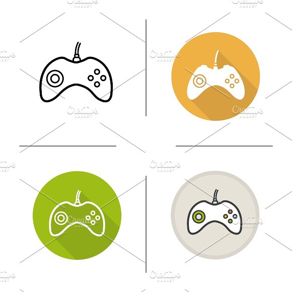 Gamepad icons. Vector - Icons