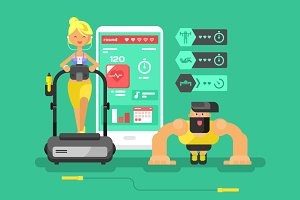 Ffitness app man and woman
