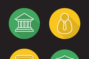 Banking icons. Vector