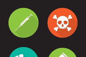 Drugs icons. Vector