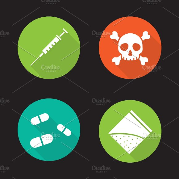 Drugs icons. Vector - Icons