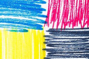 Pastels, print CMYK on paper
