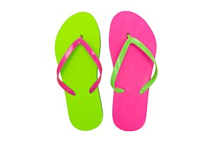 Colorful sandal slippers