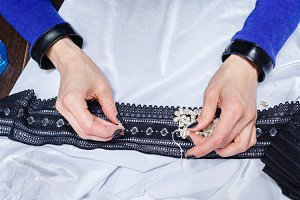 Designer clothes to choose jewelry