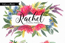 Watercolor Flower Clipart Frames