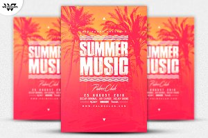SUMMER MUSIC Flyer Template