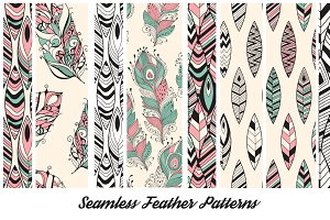 Seamless Feathers Collection