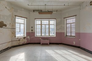 Empty room in old hospital