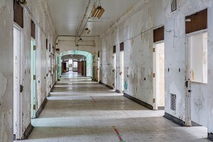 View down corridor in hospital