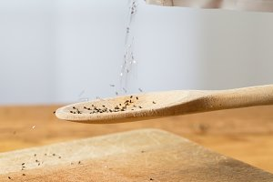 Chia Seeds in kitchen setting